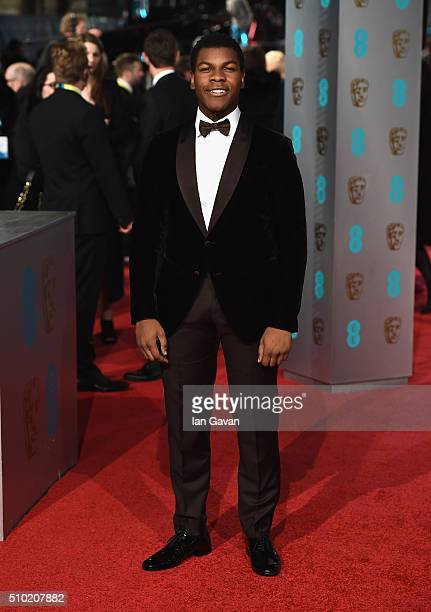John Boyega attends the EE British Academy Film Awards at the Royal Opera House on February 14 2016 in London England