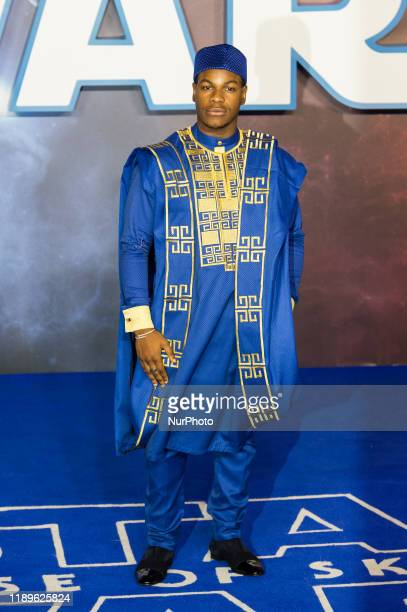 John Boyega attends the European film premiere of 'Star Wars: The Rise of Skywalker' at Cineworld Leicester Square on 18 December, 2019 in London,...