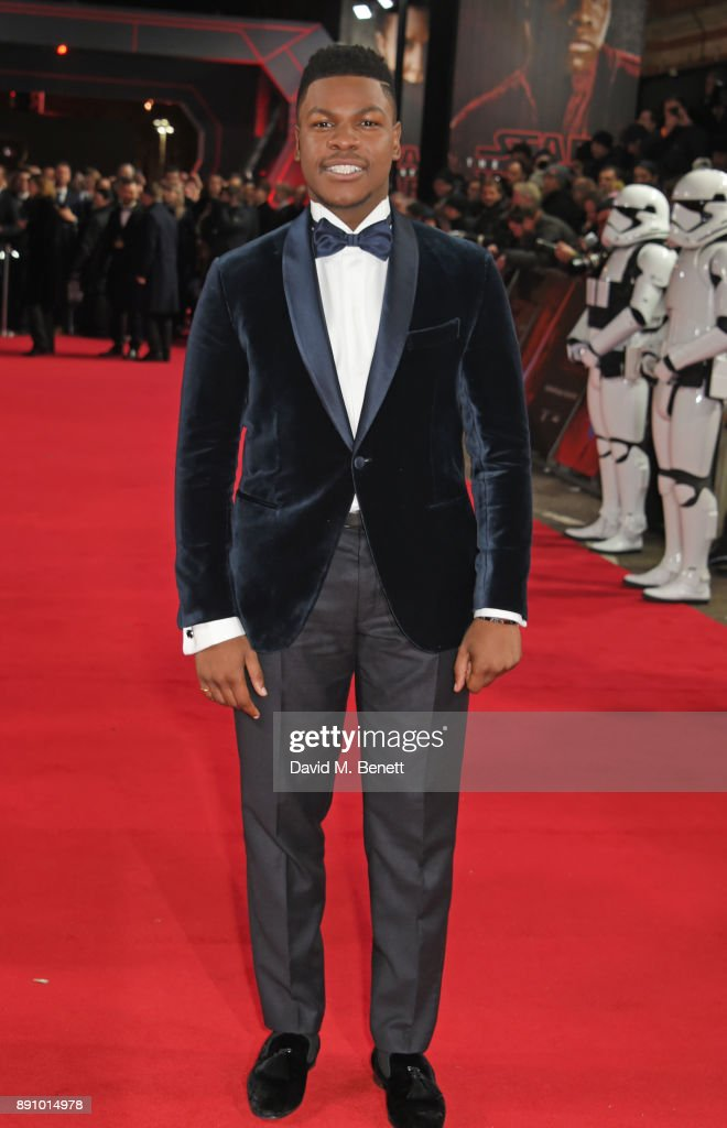 John Boyega attends the European Premiere of 'Star Wars: The Last Jedi' at the Royal Albert Hall on December 12, 2017 in London, England.