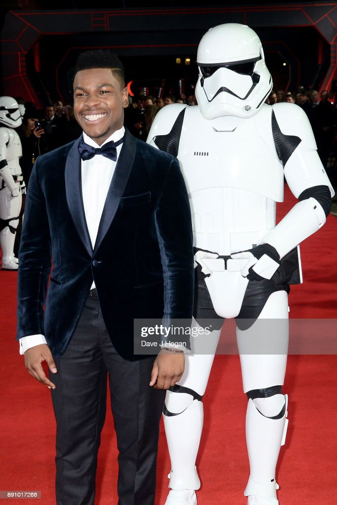 John Boyega attends the European Premiere of 'Star Wars: The Last Jedi' at Royal Albert Hall on December 12, 2017 in London, England.