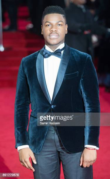John Boyega attends the European Premiere of 'Star Wars The Last Jedi' at Royal Albert Hall on December 12 2017 in London England