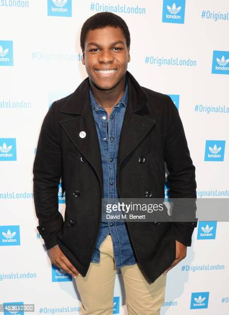 John Boyega attends the launch of the new adidas Originals London Flagship store at 15 Foubert's Place on August 14 2014 in London England
