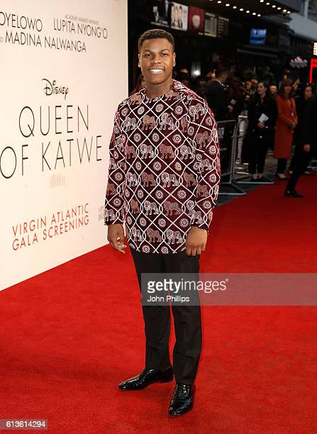 John Boyega attends the 'Queen Of Katwe' Virgin Atlantic Gala screening during the 60th BFI London Film Festival at Odeon Leicester Square on October...