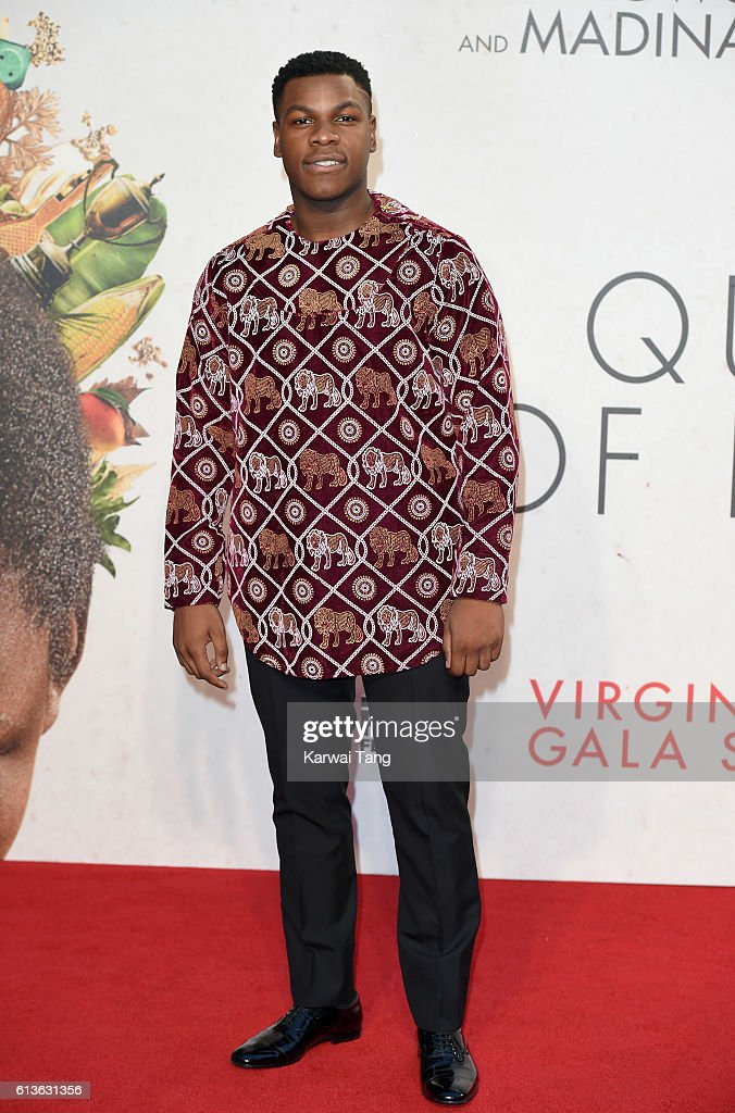 John Boyega attends the 'Queen Of Katwe' - Virgin Atlantic Gala screening during the 60th BFI London Film Festival at Odeon Leicester Square on October 9, 2016 in London, England.