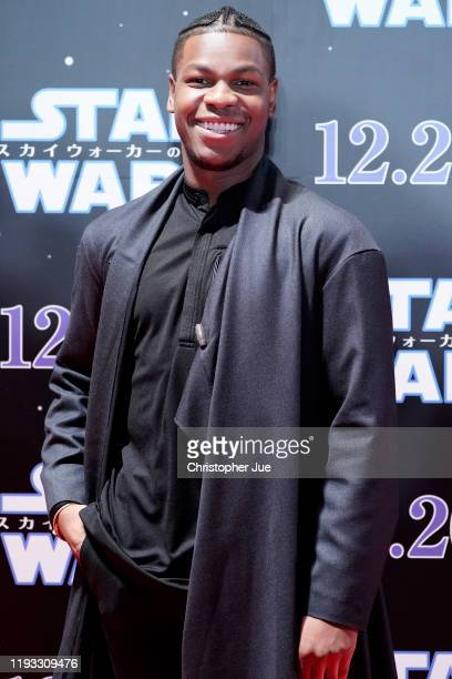 John Boyega attends the special fan event for 'Star Wars The Rise of Skywalker' at Roppongi Hills on December 11 2019 in Tokyo Japan