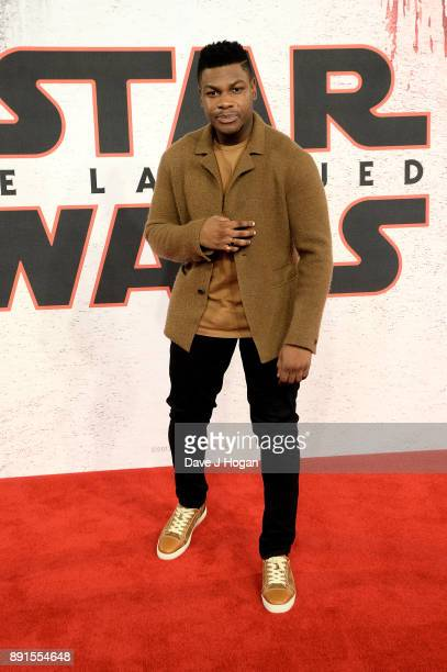 John Boyega attends the 'Star Wars The Last Jedi' photocall at Corinthia Hotel London on December 13 2017 in London England