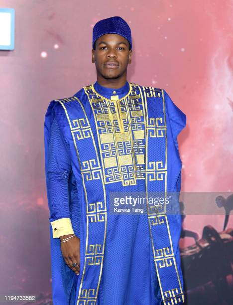 John Boyega attends the Star Wars The Rise of Skywalker European Premiere at Cineworld Leicester Square on December 18 2019 in London England