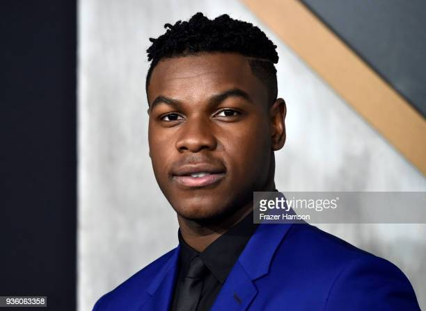 John Boyega attends Universal's Pacific Rim Uprising Premiere at TCL Chinese Theatre IMAX on March 21 2018 in Hollywood California