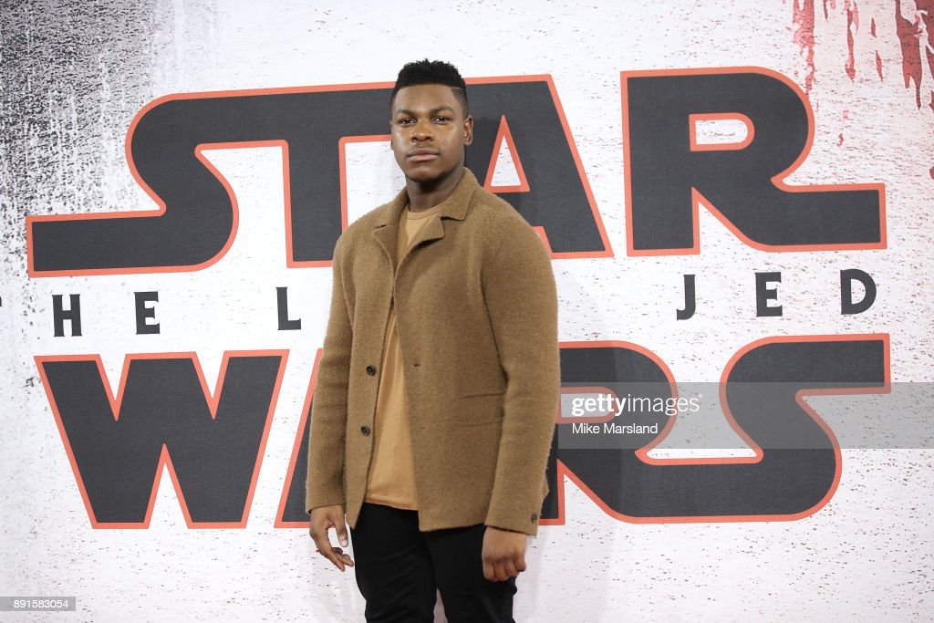 John Boyega during the 'Star Wars: The Last Jedi' photocall at Corinthia Hotel London on December 13, 2017 in London, England.