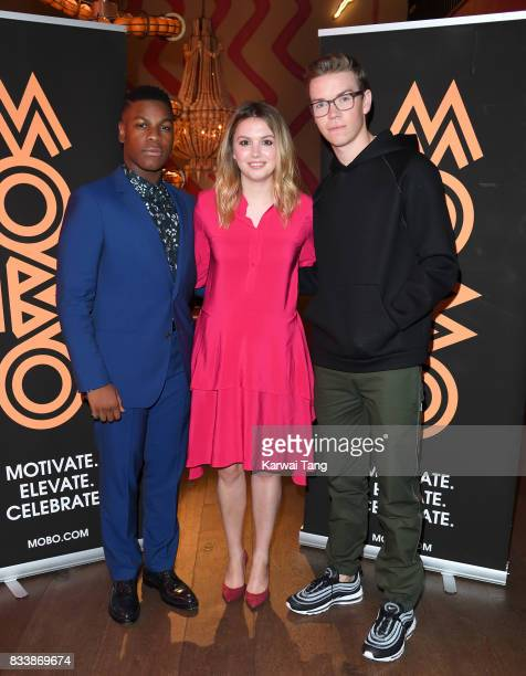 John Boyega Hannah Murray and Will Poulter attend a screening of 'Detroit' in association with MOBO at Ham Yard Hotel on August 17 2017 in London...