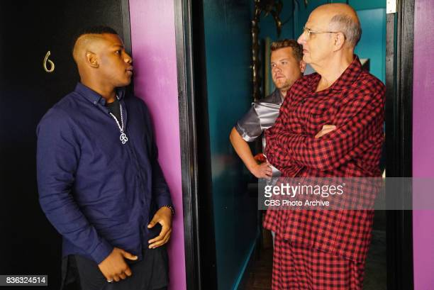 John Boyega James Corden Jeffrey Tambor during 'The Late Late Show with James Corden' Tuesday August 8 2017 On The CBS Television Network