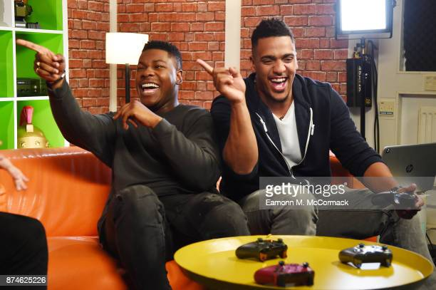 John Boyega joins Rukari Austin to play Star Wars Battlefront II on Xbox One X for Xbox Live Sessions on November 15 2017 in London England