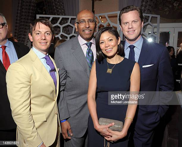 John Brabender Michael Steele Alex Wanger and Willie Geist attend the PEOPLE/TIME Party on the eve of the White House Correspondents' Dinner on April...