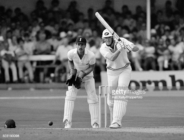 John Bracewell batting for New Zealand during the 2nd Test match between England and New Zealand at Trent Bridge in Nottingham 7th August 1986 The...