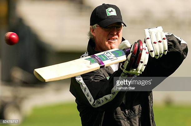John Bracewell of New Zealand in action during training at Eden Park on March 25 2005 in Auckland New Zealand