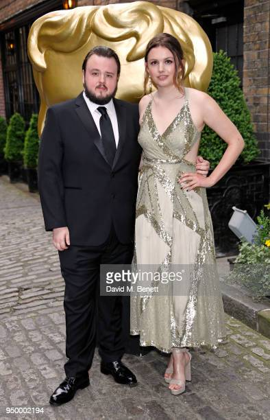 John Bradley and Hannah Murray arrive at the British Academy Television Craft Awards held at The Brewery on April 22 2018 in London England