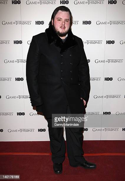 John Bradley attends the DVD premiere of 'Game Of Thrones' at Old Vic Tunnels on February 29 2012 in London England