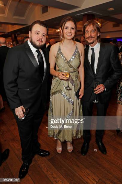 John Bradley Hannah Murray and Mackenzie Crook attend the British Academy Television Craft Awards held at The Brewery on April 22 2018 in London...