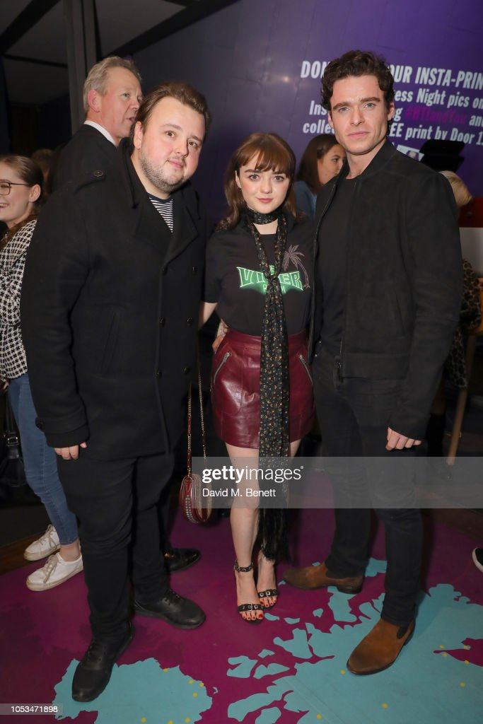Press Night Of 'I And You' At Hampstead Theatre With Lead Actor Maisie Williams Wearing Coach : News Photo