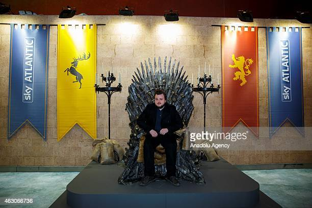 John Bradley opens 'Game of Thrones Exhibition' at the O2 in London England on February 09 2015 The exhibition showcasing a collection of 70 original...