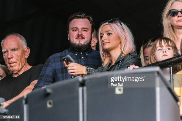 John BradleyWest from Game of Thrones watches Liam Gallagher perform at Reading Festival at Richfield Avenue on August 27 2017 in Reading England