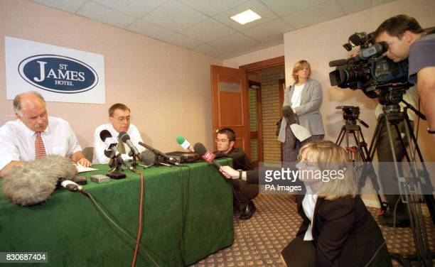 John Bridge and Terry Parnell who represent the 28yearold woman who has accused Neil and Christine Hamilton of a serious sexual assault at a press...