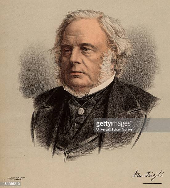 """John Bright British radical statesman, born in Rochdale, Lancashire. Anti Corn Law League. Reform Act 1867. From """"The National Portrait Gallery"""" ...."""