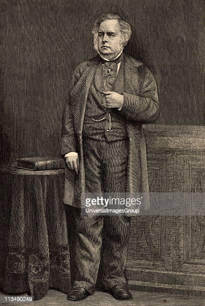 John Bright English radical statesman, born in Rochdale, Lancashire. Anti-Corn Law League. Reform Act 1867. Engraving from The Century Magazine .