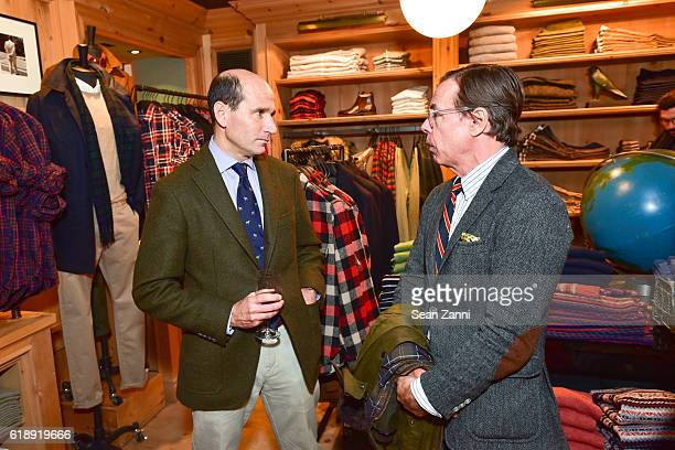 John Brodie and Andy Spade attend Frank Muytjens JCrew Celebrate David Coggins New Book 'Men and Style' at JCrew Men's Shop on October 27 2016 in New...