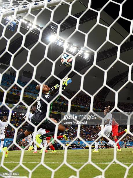 John Brooks of the United States scores his team's second goal past Adam Kwarasey of Ghana during the 2014 FIFA World Cup Brazil Group G match...