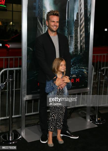 John Brotherton and Saylor Callisto Brotherton attend the premiere of Warner Bros Pictures' 'Geostorm' on October 16 2017 in Hollywood California