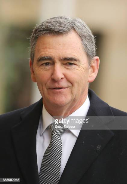 John Brumby Former Premier of Victoria attends the Lou Richards State Funeral Service at St Paul's Cathedral on May 17 2017 in Melbourne Australia