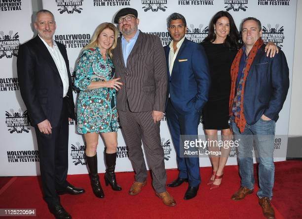 John Brunlik Philicia Endelman Stephen Endelman Ajay Nayyar Angela Matthews and George Matthews arrive for The 2019 Hollywood Reel Independent Film...