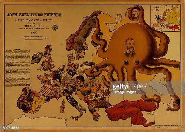 John Bull and his Friends A SerioComic Map of Europe Private Collection