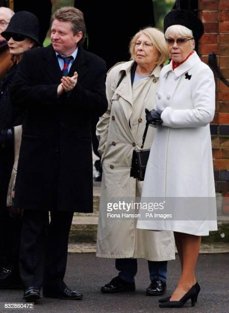 John Burns and actress Wendy Richard attending the funeral of civil partner actor John Inman at Golders Green Crematorium today
