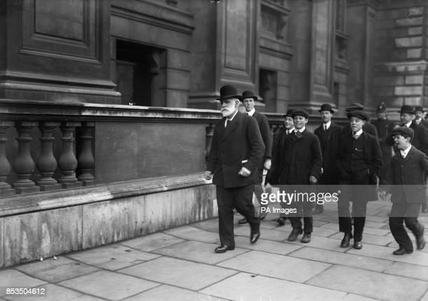 John Burns leaving a Cabinet Meeting in London