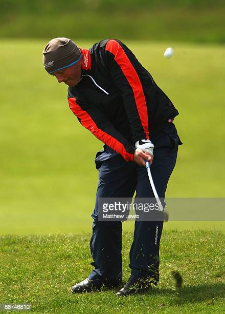 John Burns of Bull Bay plays a shot from the 1st fairway during the Glenmuir PGA Professional Championship North Regional Qualifying at Hesketh Golf...