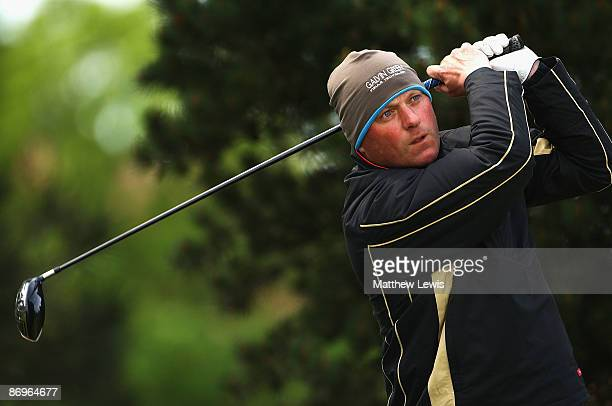 John Burns of Bull Bay tees of on the 1st hole during the Glenmuir PGA Professional Championship North Regional Qualifying at Hesketh Golf Club on...