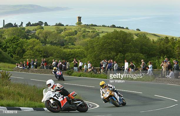 John Burrows rides during practice for the 2007 Isle of Man Tourist Trophy races on May 31 2007 in Ramsey Isle of Man United Kingdom