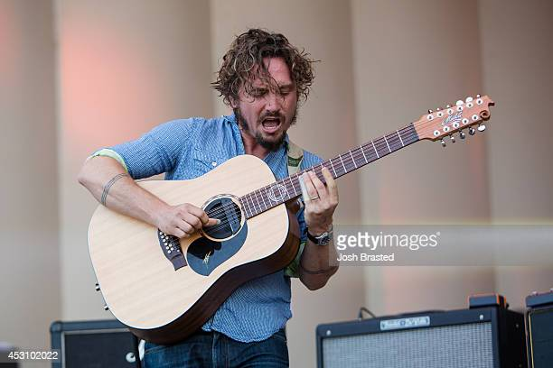 John Butler of the John Butler Trio performs during the 2014 Lollapalooza at Grant Park on August 2 2014 in Chicago Illinois