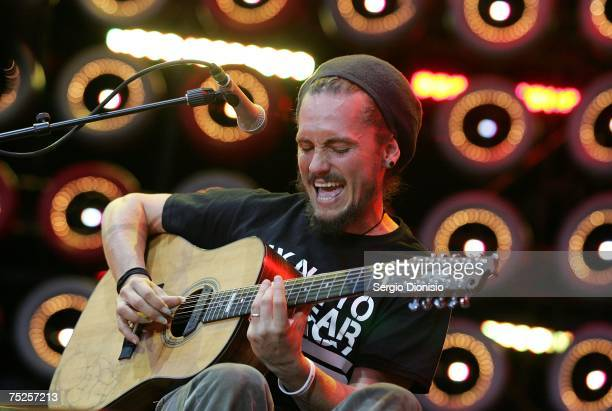 John Butler of the John Butler Trio performs on stage at the Australian leg of the Live Earth series of concerts at Aussie Stadium Moore Park on July...