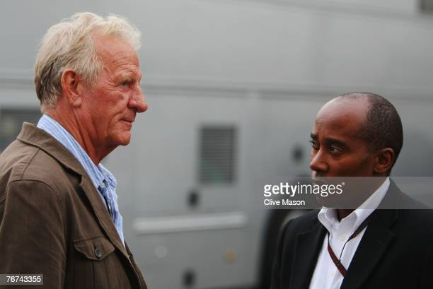 SPA FRANCORCHAMPS BELGIUM SEPTEMBER 14 John Button father of Jenson Button of Great Britain and Honda Racing and Anthony Hamilton father of Lewis...