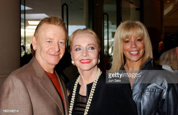 John Byner and Anne Jeffreys during Professional Dancers Society 'Gypsy' Awards Arrivals at Beverly Hilton in Beverly Hills California United States