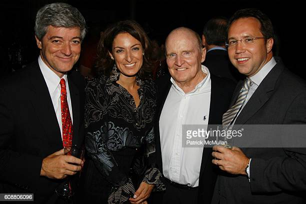 John Byrne Suzy Welch Jack Welch and Rick Gates attend BUSINESSWEEK Unveils Newly Redesigned Magazine at Guastavino's on October 11 2007 in New York...