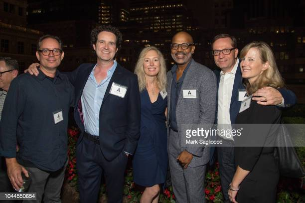 John C Donnon Robert Baird Karen FisherBaird Patrick Harrison and Guests attend The Academy Of Motion Picture Arts Sciences 2018 New Members Party at...
