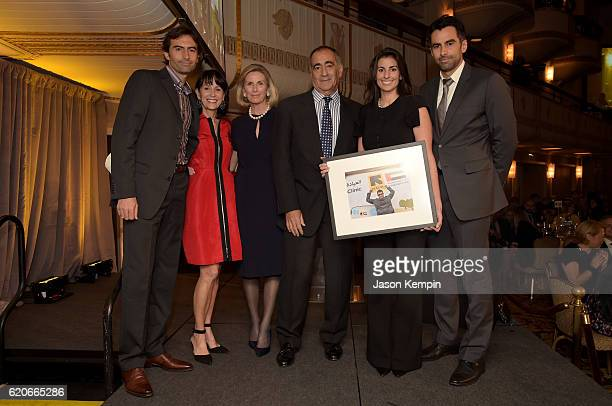 John C Mack Katherine Farley Christy Mack John J Mack Jenna Mack and Stephen Mack pose onstage during the International Rescue Committee 2016 Rescue...