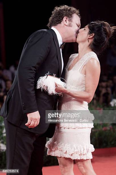 John C Reilly and Alison Dickey attend the premiere of movie Carnage directed by Roman Polanski presented in competition at the 68th Venice...