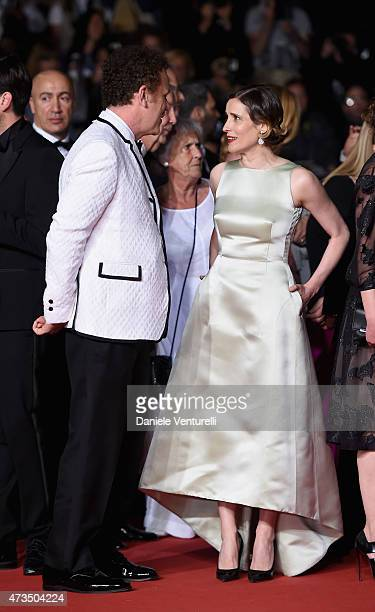 John C Reilly and Angeliki Papoulia attend the 'Lobster' Premiere during the 68th annual Cannes Film Festival on May 15 2015 in Cannes France