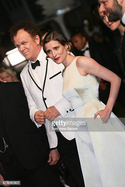 John C Reilly and Angeliki Papoulia attend 'The Lobster' premiere during the 68th annual Cannes Film Festival on May 15 2015 in Cannes France