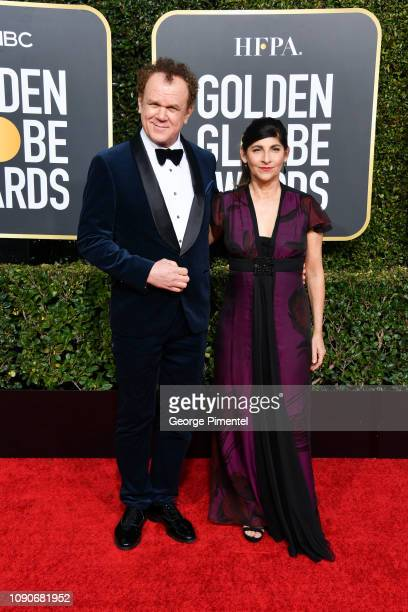 John C Reilly and his wife Alison Dickey attend the 76th Annual Golden Globe Awards held at The Beverly Hilton Hotel on January 06 2019 in Beverly...
